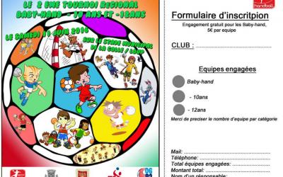 SPCOC HB – 2EME TOURNOI REGIONAL BABY HAND -10 ANS -12  ANS